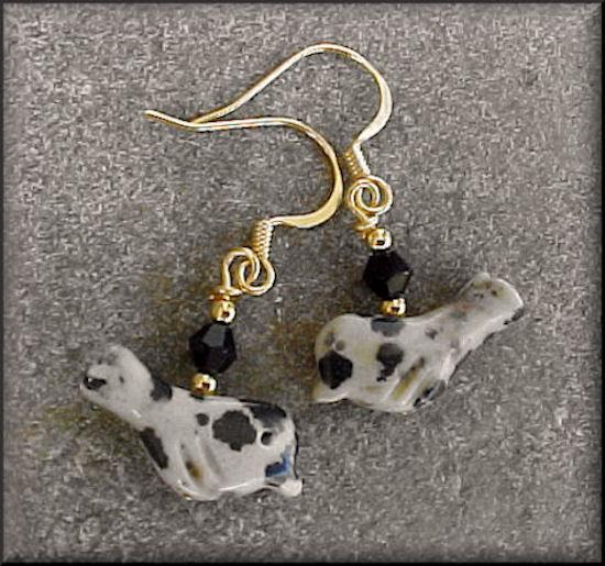 Dalmatian Jasper (N) in gold 0822B6
