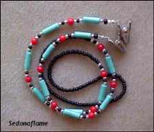Turquoise Tube & Coral 0822EC7
