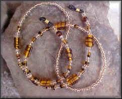 Tortoise glass bead Eyeglass Chain