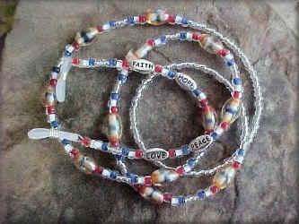 Patriot Message eyeglass Chain